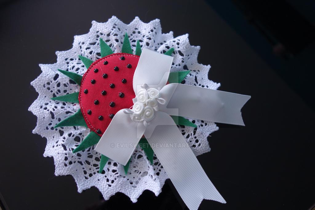Strawberry Lolita Headpiece by Evilsweet