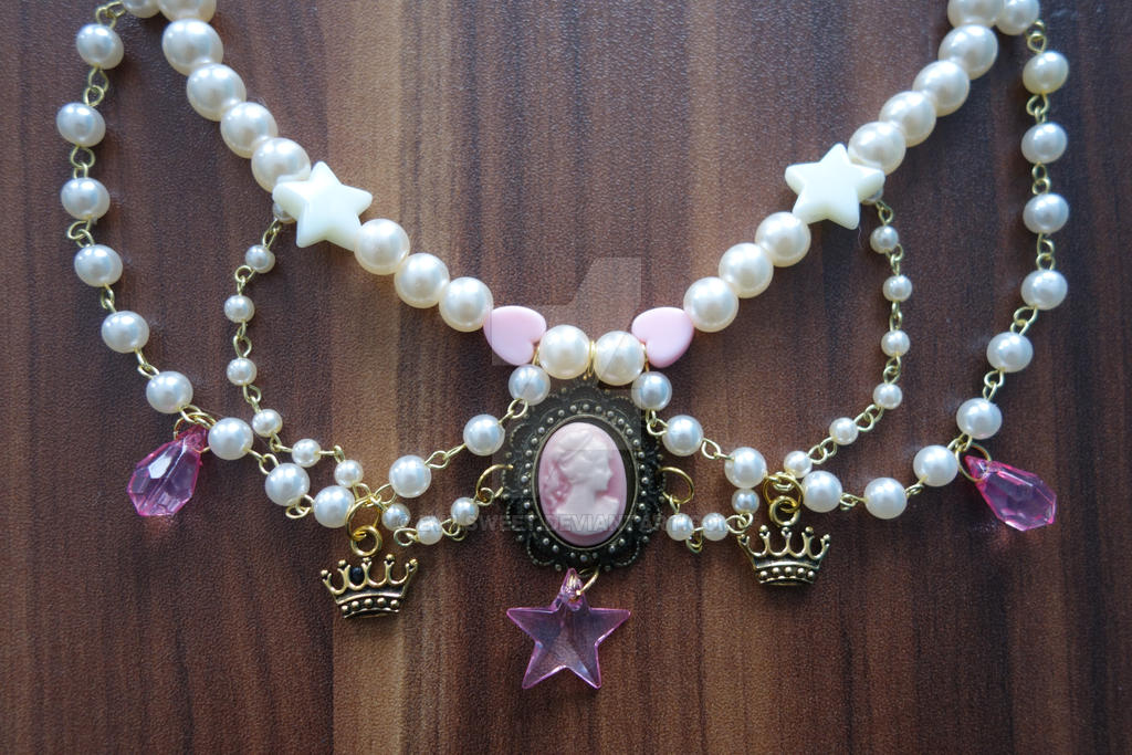 Lolita Pink Kingdom Necklace by Evilsweet