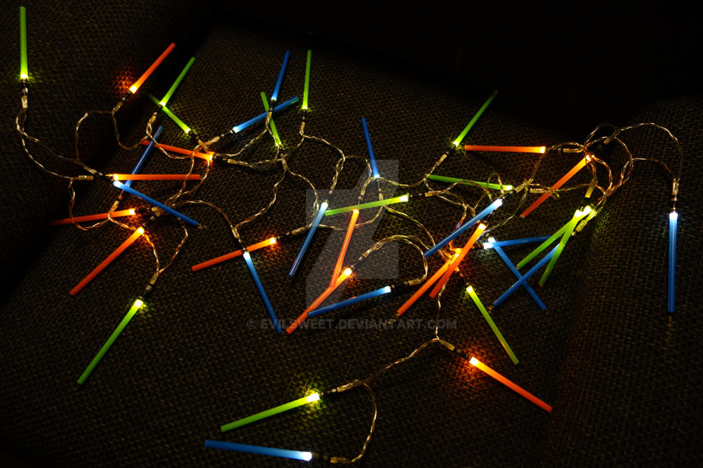lightsaber holiday lights by evilsweet