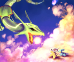 Rayquaza Battle by visionaryBuffoon127