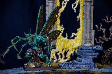 The Daemon Prince Emerges by Taelonar