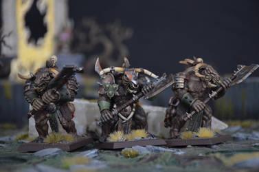 Minotaurs of Nurgle by Taelonar