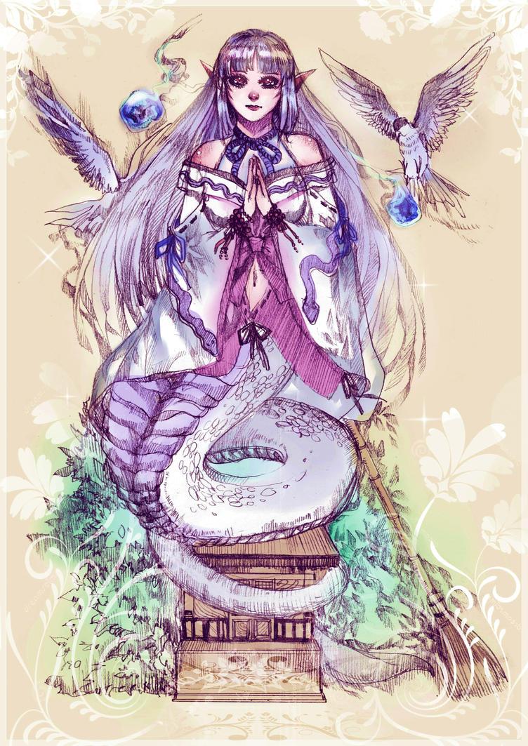 [COMMISS] Snake Goddess by TitPrince