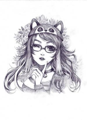 [COMMISSION] CUTE GIRL by TIKUMAN