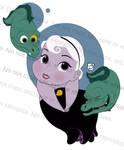 Toddler Ursula and Pets