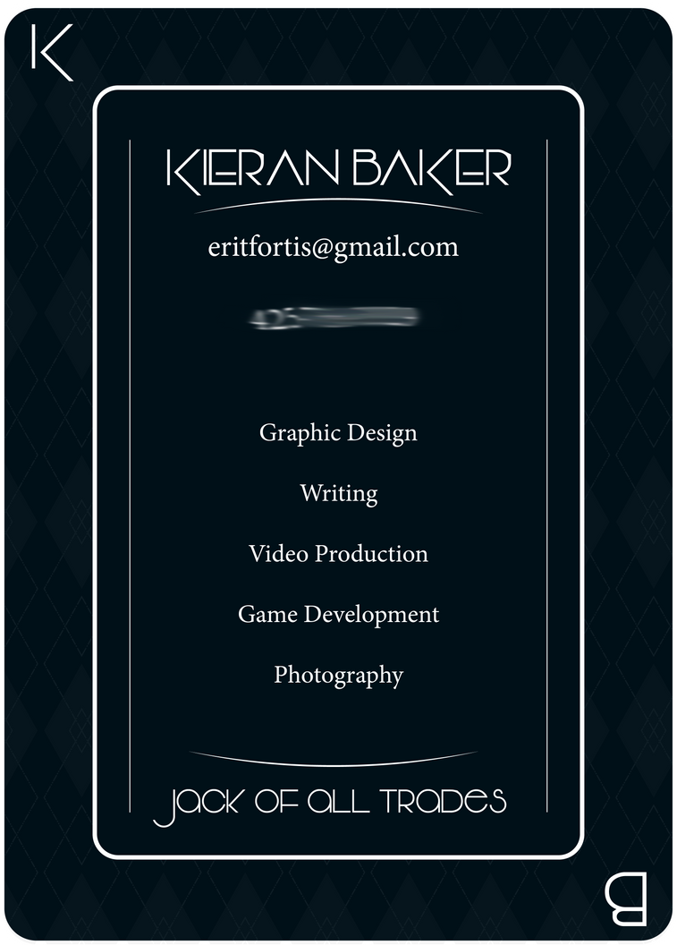 Business Card Front by kieranbaker