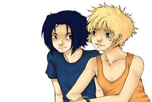 art trade...sasuke and naruto by Sasuke-FC