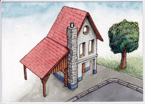 Haus in 5 Schritten  - House drawing