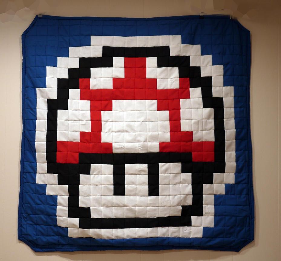 Mushroom Power Up Kids Blanket by 8bitHealey