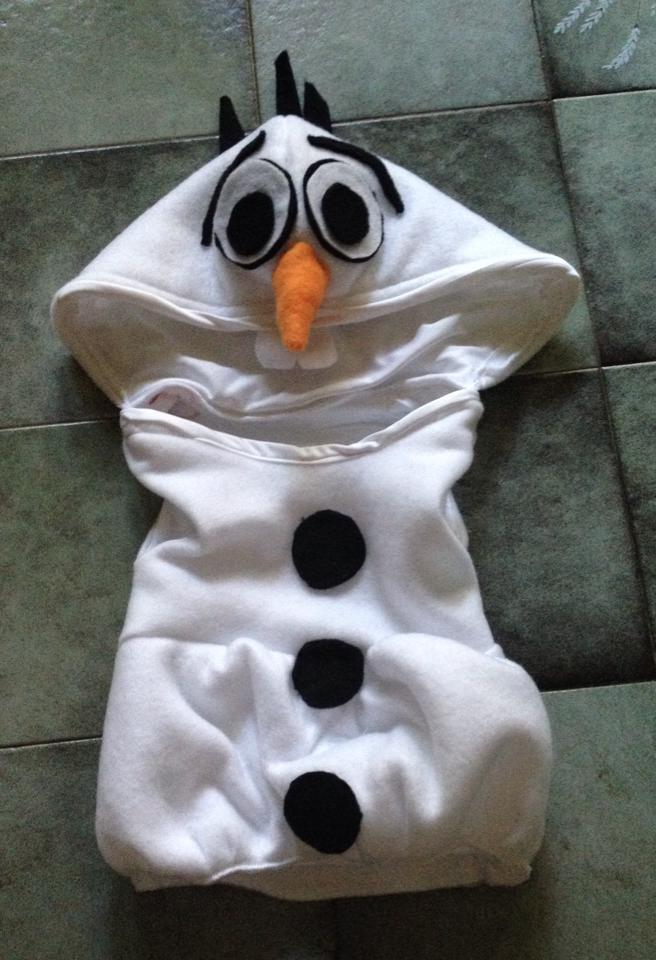 Olaf baby onsie costume by 8bitHealey