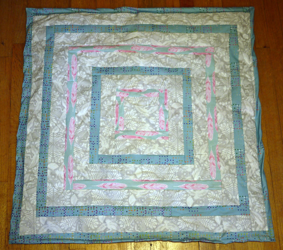 Boxes inside of boxes Baby Blanket Quilt by 8bitHealey