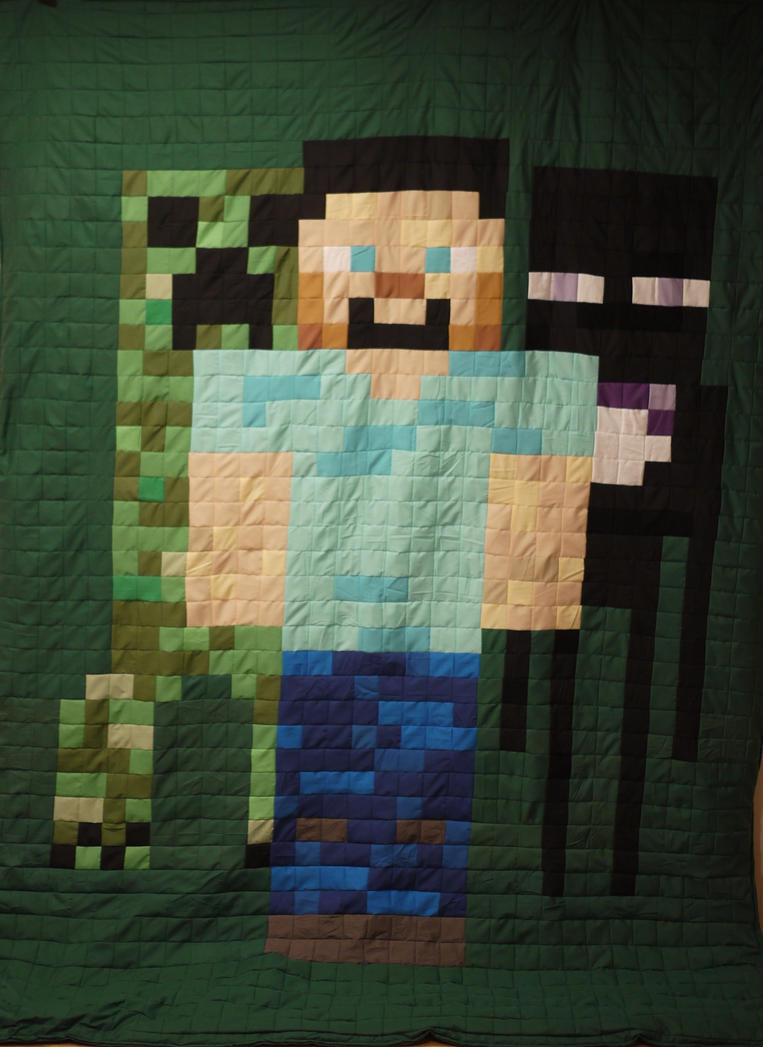 Forever making Minefriends Quilts by 8bitHealey
