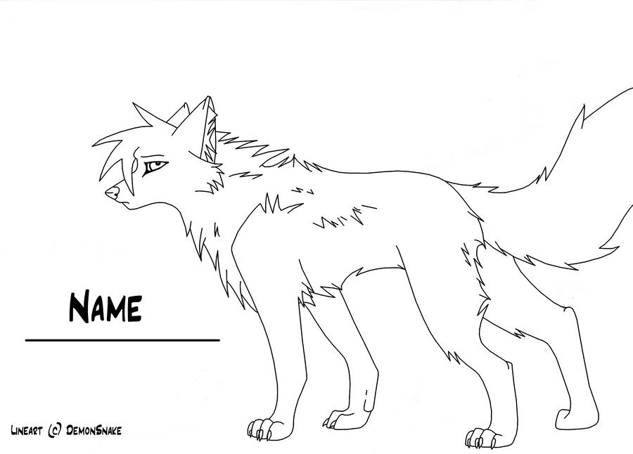 Wolf Lineart : Wolf lineart