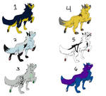 6 Wolf Adoptables