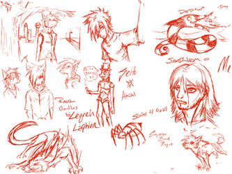 August 4th 2012 sketches by DemonSnake