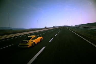 RUF CTR Yellowbird highway shot by DemonSnake