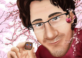 Markiplier - Cherry Blossoms by A-lichka