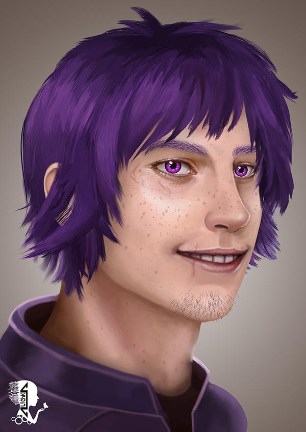Purple Guy portrait by A-lichka