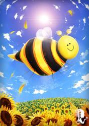 Happy Bee Buzz Buzz by A-lichka