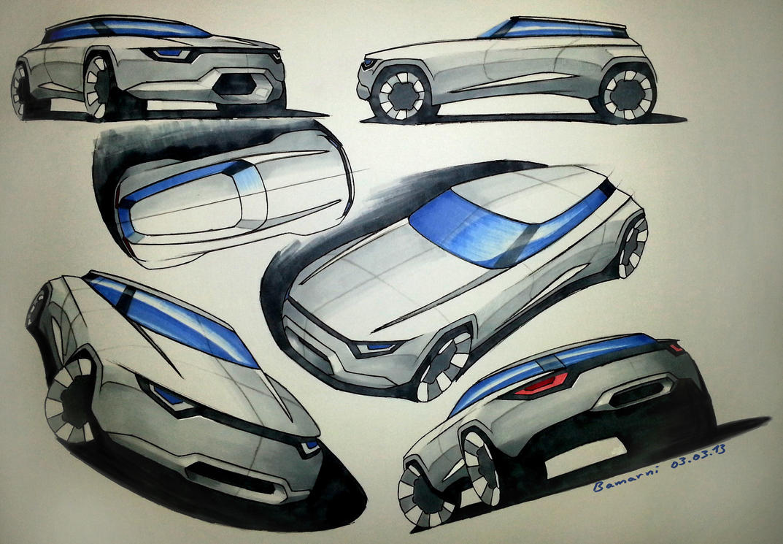 Marker Car Sketches by LoccoRico on DeviantArt