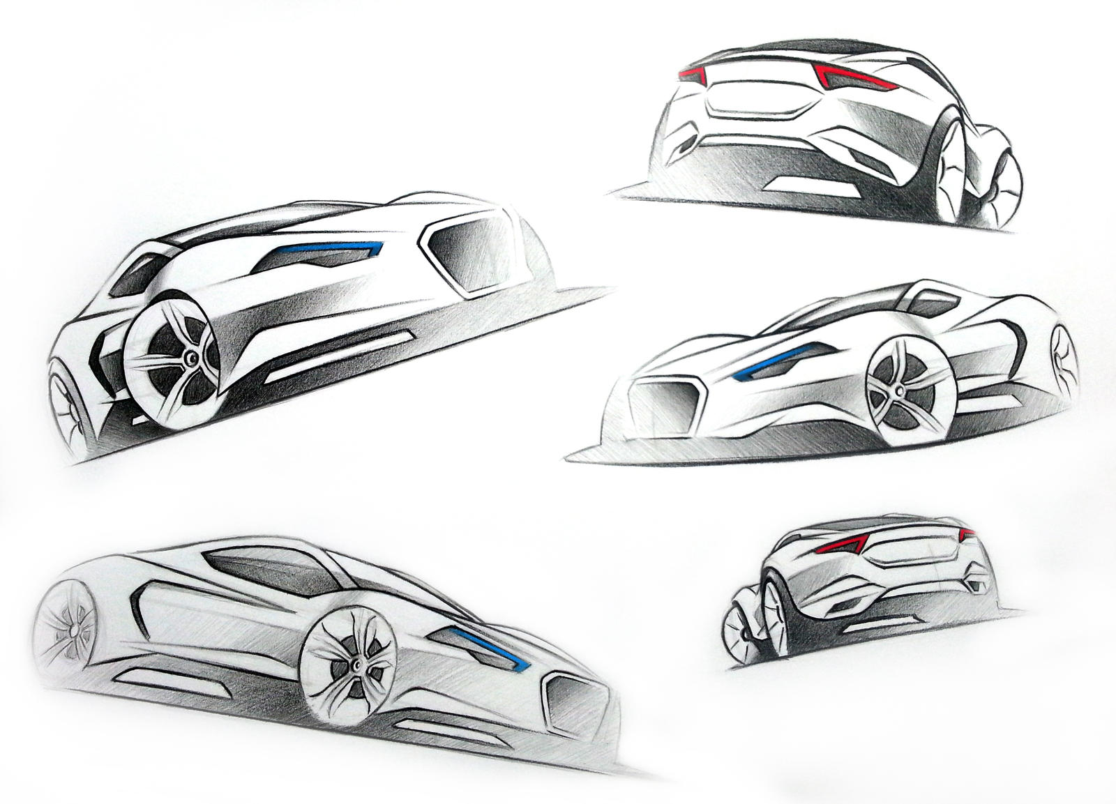 Exceptional Sports Car Sketches By LoccoRico Sports Car Sketches By LoccoRico
