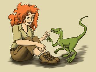 Dinosaur Girl by Starflier