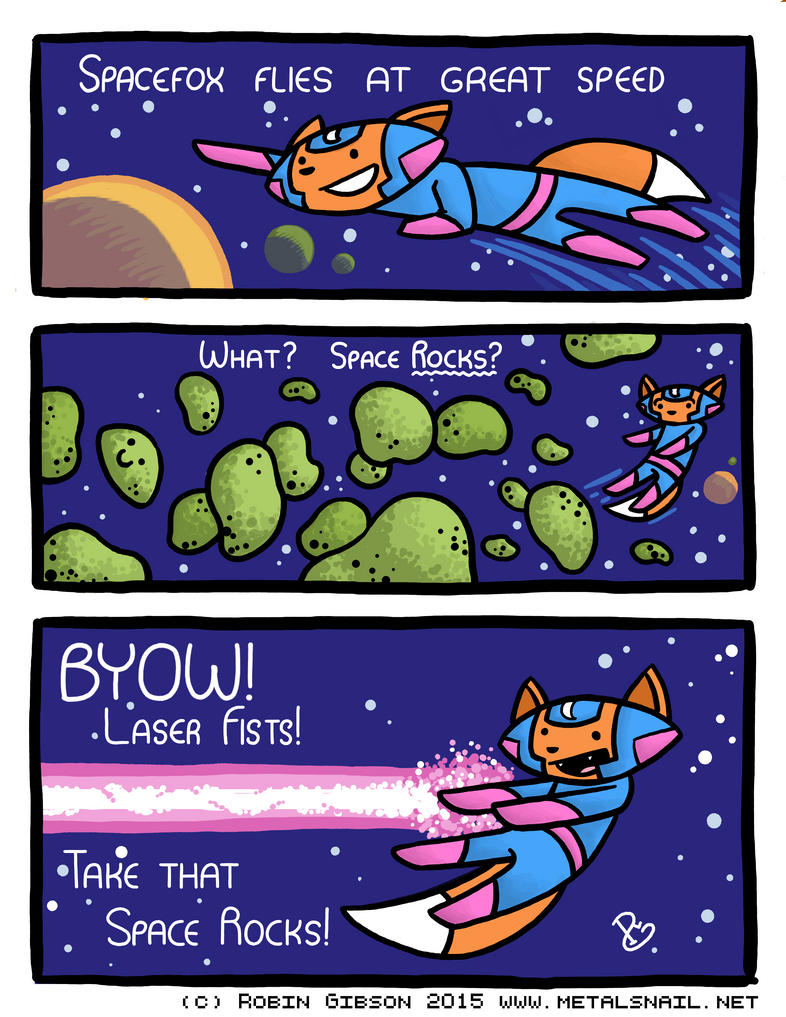 Spacefox Page 1: Laser Fists by Starflier