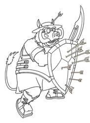 Armorer (WIP Line Art)
