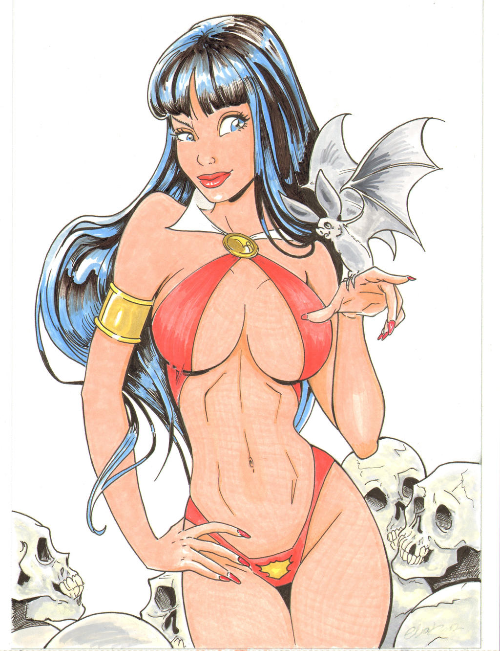 Vampirella By Elias Colored By Seter by Dseter