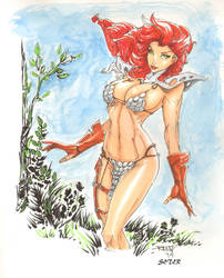 Red Sonja By Rantz Colored By Seter by Dseter