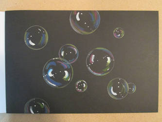 Bubbles On Black Finished by Dseter