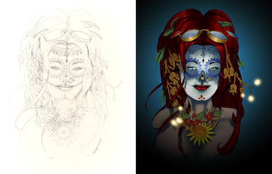 Muse De Los Muertos Side By Side by Dseter