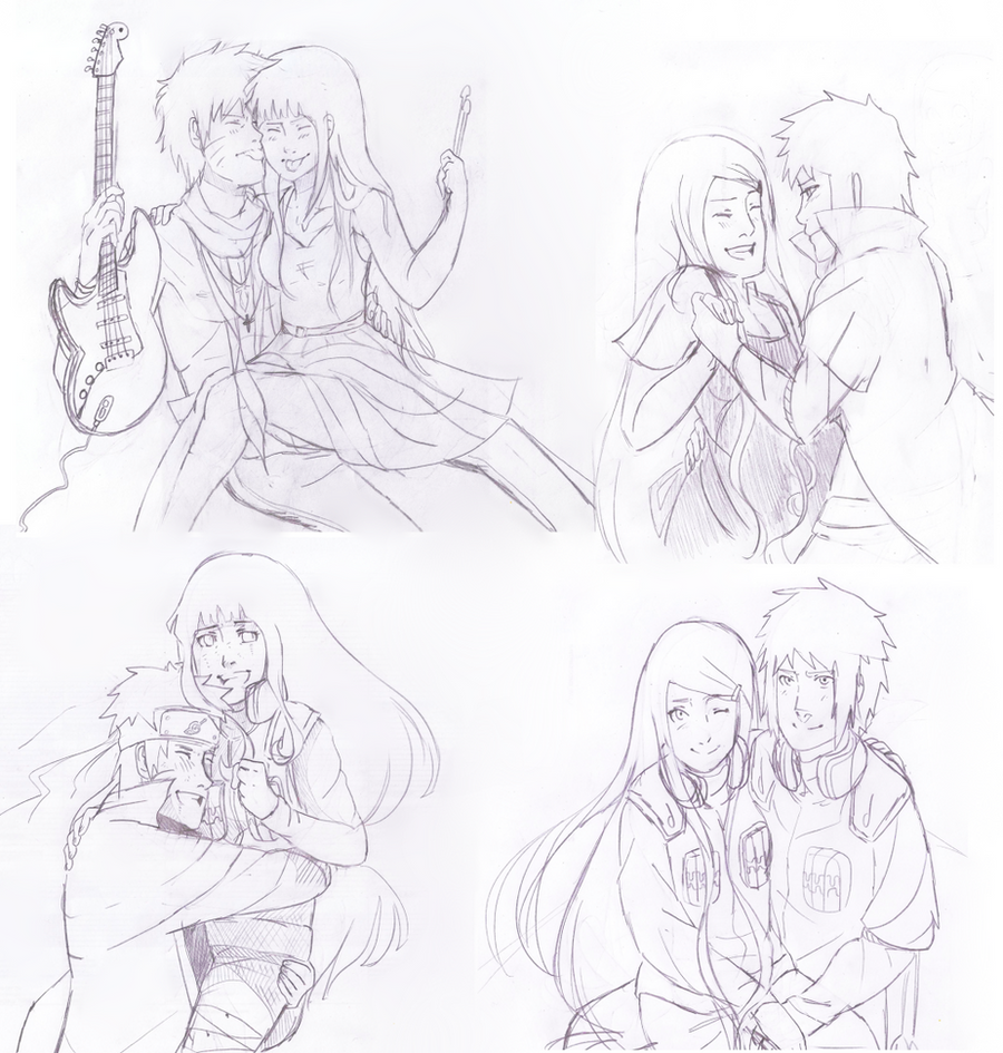 Naruhina and Minakushi sketches by Artict