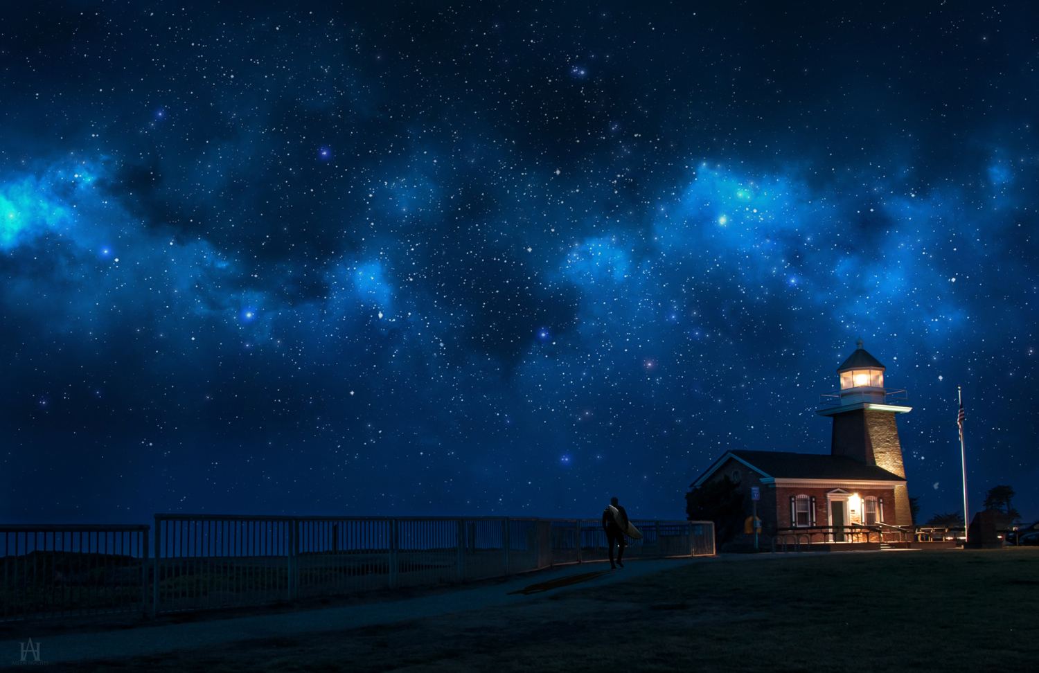 Lighthouse At The Edge by Allen59