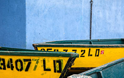 Two Yellow Boats by Allen59