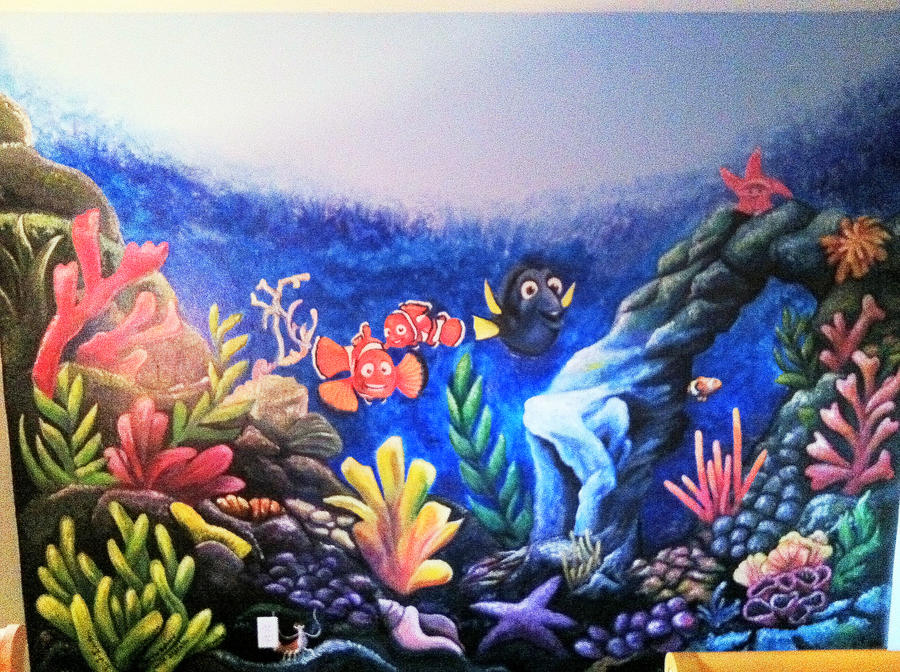 finding nemo wall mural by lingxchan on deviantart