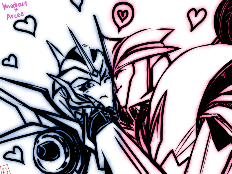 Transformers Prime Arcee And Knockout Kiss