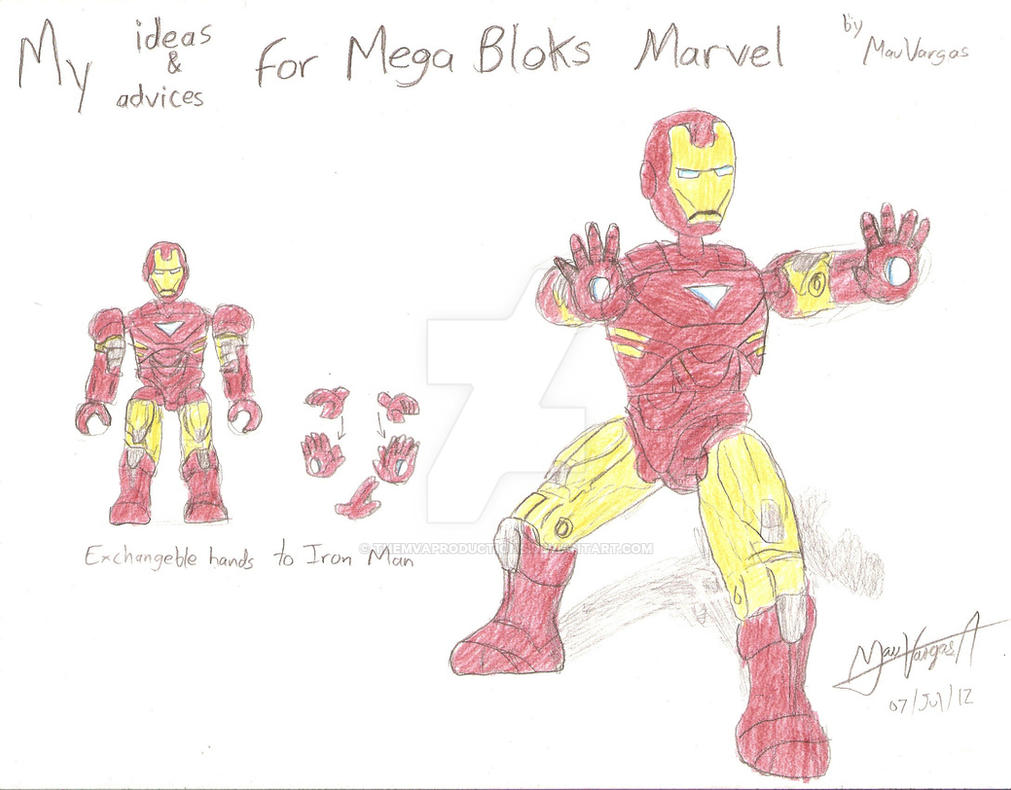 My Ideas For Marvel Mega Bloks Iron Man By Themvaproductions On