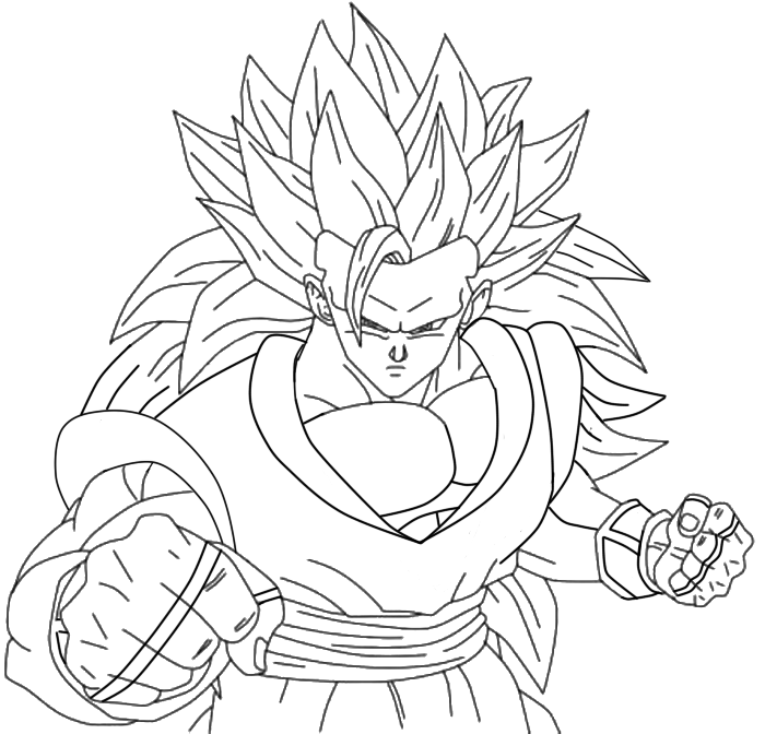 Super sayian 6 goku free colouring pages for Goku ssj coloring pages