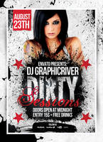 Dirty Sessions Party Flyers