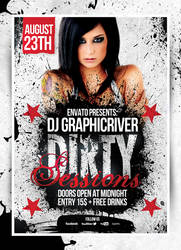 Dirty Sessions Party Flyers by 8D3K