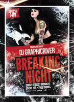 Breaking Night Flyer by 8D3K