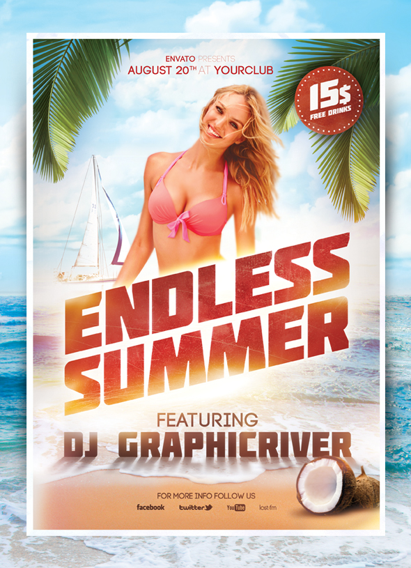 Endless Summer Flyer by 8D3K