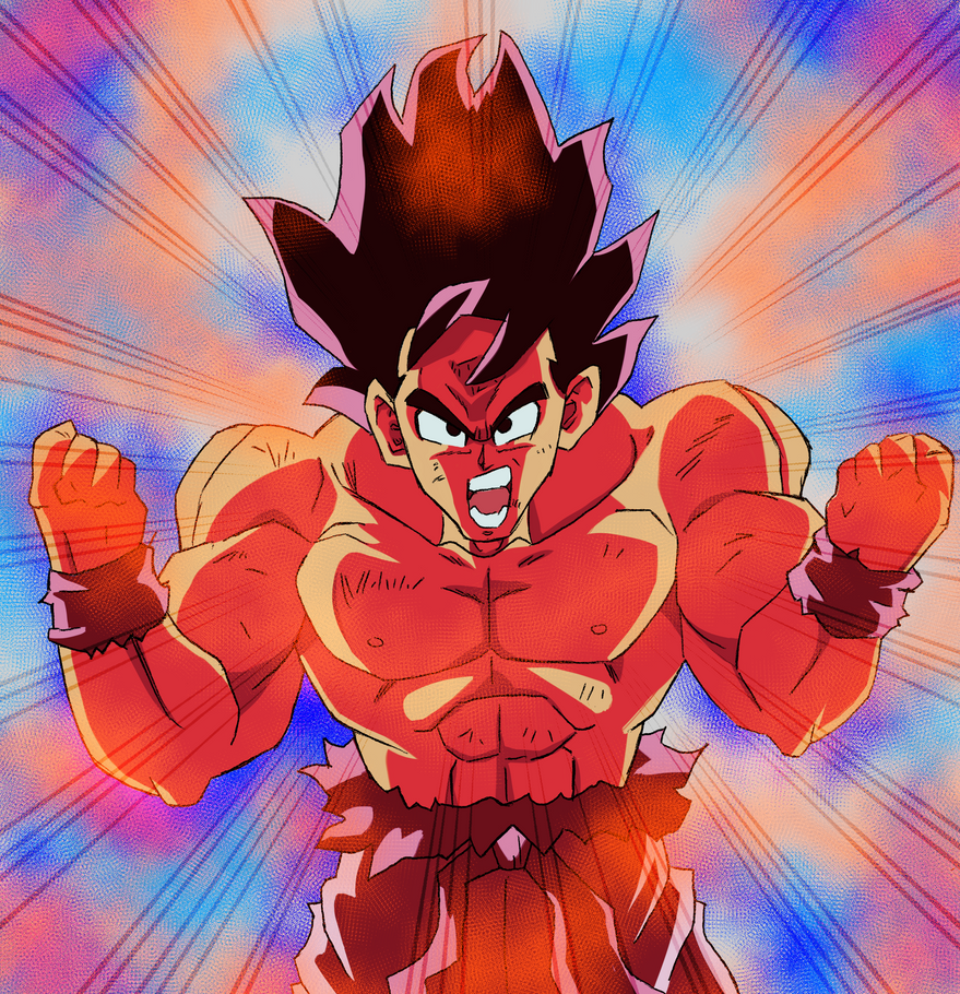 Goku: Kaio-Ken by pencil-sharpener
