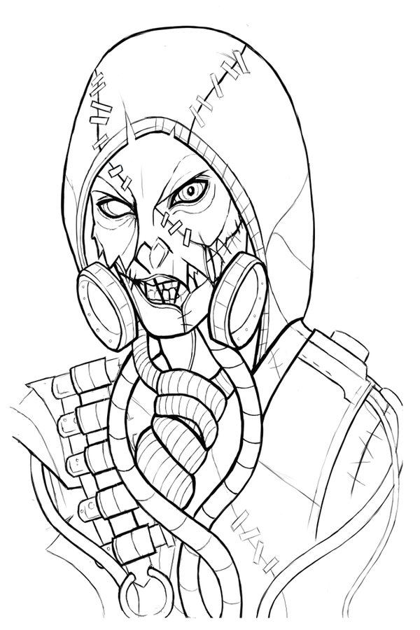 Scarecrow Arkham Knight Lineart By Xehiros On DeviantArt