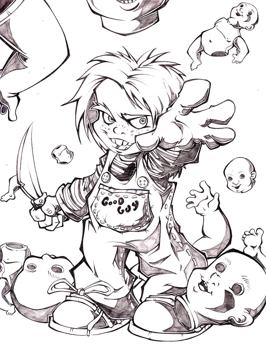 Chucky By Alex Chamaco On Deviantart Chucky Doll Coloring Pages
