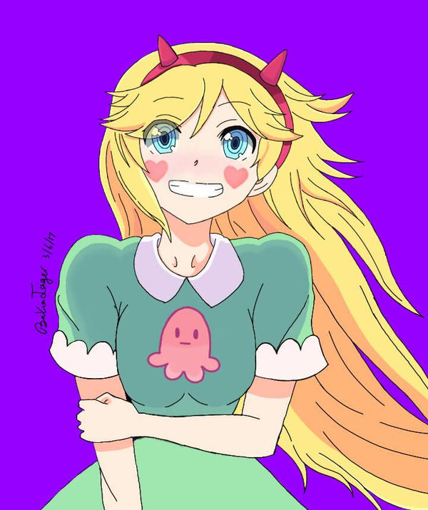 Star Butterfly as an anime character by BakaJager