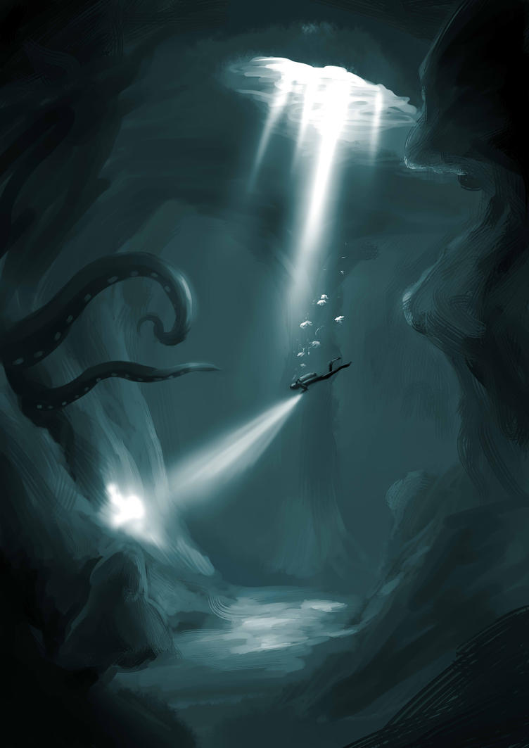 Uncharted Underwater Cave by The-Spirit-Reaper on DeviantArt
