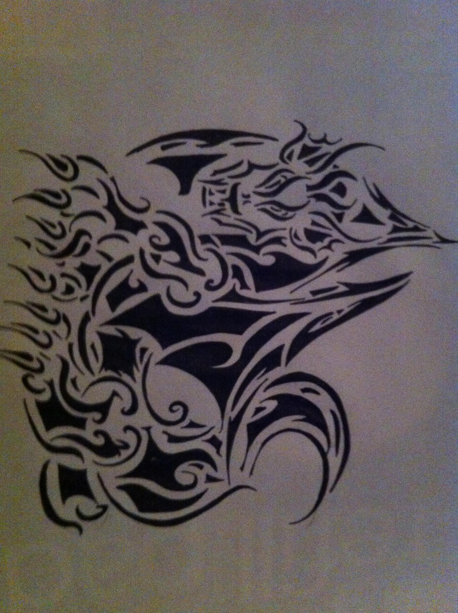 Tribal Dragon by TribalBluePichu