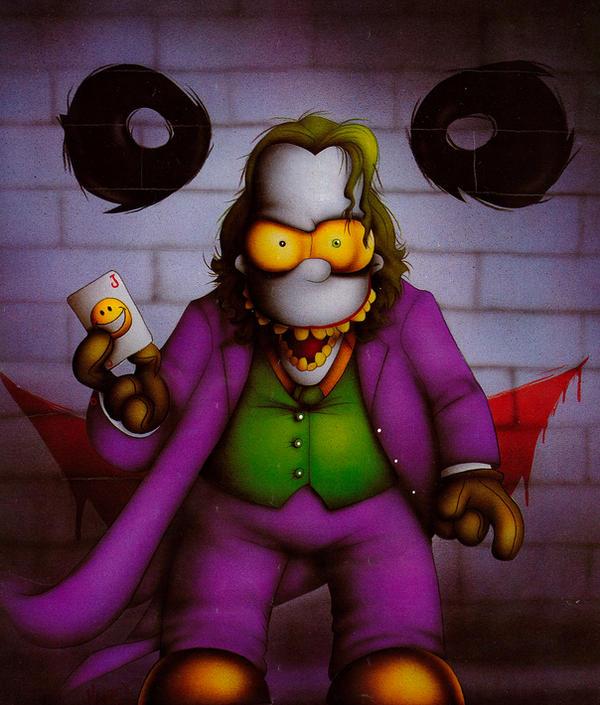 Homer Simpson as the Joker by Dyslexic-Ferret